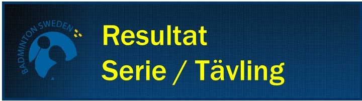 Resultat Serie Tävling Franklin Medium
