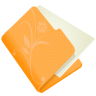 folder-flower-orange-icon