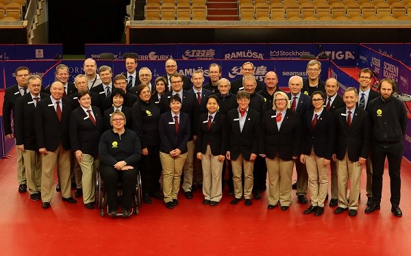 Group photo of Referee and Umpire Team Swedish Open 2017
